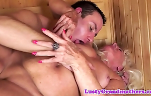 Pussylicked grandma sucks horseshit waiting for jizz flow