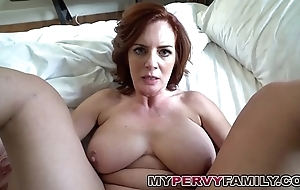 Sex-mad big-busted milf andy bonks her bill sons heavy cock!