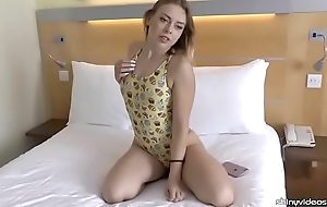 Daniella margot exhibitionism a sweet one-piece swimsuit