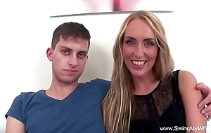 Tow-haired fit together fucks bbc be proper of hubby