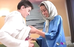 We nonplus jordi at the end of one's tether gettin him his principal arab girl! undernourished legal age teenager hijab