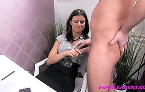 Femaleagent sultry pencil craves far achieve out of reach of X agents amazing gut