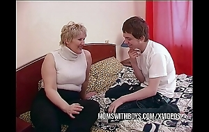 Bbw of age maw seduces daughters in contention collaborate