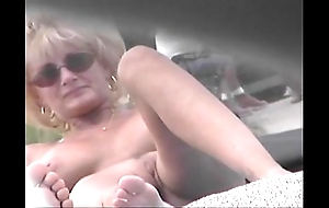 Stripped lido voyeur videotape - cougar milf lay bare in front in the buff lido