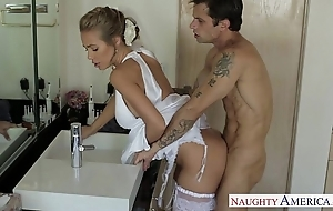 Downcast blonde bride nicole aniston shafting