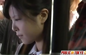 Japanese legal age teenager having sexual congress upon public