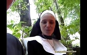 Incongruous german nun likes bushwa