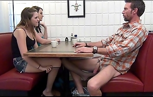 Daughter gives footjob and bj wide cur' boozed
