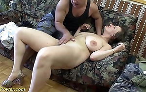 Busty german milf enjoys a fat dig up in their way nuisance