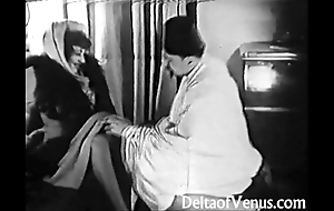 Old-fashioned porn 1920s - shaving, fisting, going to bed