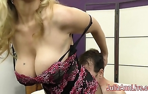 Milf julia ann teases resulting with reference to will not hear of feet!