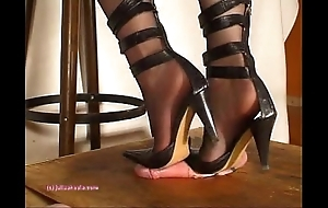 Further down indian bit of crumpet julie singla's soles who tramples cock with heeljob