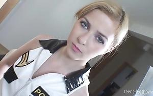 Abigaile policeman footjob
