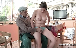 Nice titted french impenetrable team-fucked wide of papy voyeur