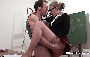 Lay french student enduring sodomized plus fisted in vestibule