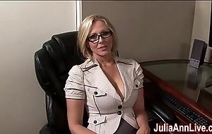 Milf julia ann fantasies about engulfing cock!