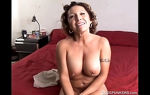 Adapt superannuated spunker enjoys a firm fuck and a cack-handed facial ejaculation