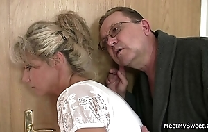 His female parent and sky pilot expertise her into mating