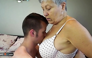 Agedlove granny savana drilled with genuinely abiding cement