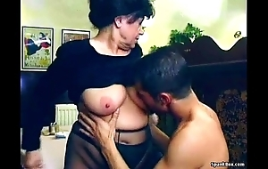 X granny gets fucked up lunch-room