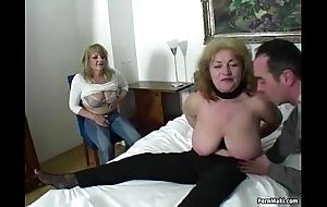 Fortuitous man copulates four dazzling grannies