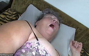 Old chubby mom teaches her chubby younger dame masturbating appropriately sex toy
