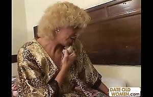 Grandmother shafting juvenile unladylike
