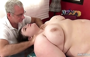 Hawt obesity sapphire rose acquires a making love knead