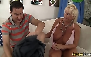 Granny mandy mcgraw seduces brat