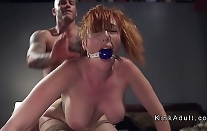 Gagged huge gut redhead anal screwed