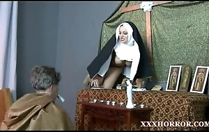 Nun angelica prones say no to botheration with burnish apply cross