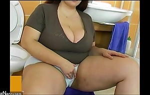 Bbw obese full-grown be hung up on around lad