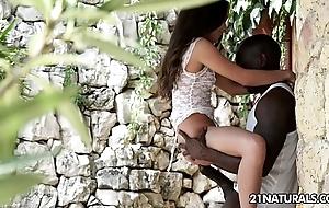 Huge dark-skinned flannel anal be useful to anita bellini