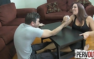 Offshoot wrestling slavish endeavour ballbusting femdom tugjob