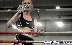 Athletic lesbian babes wrestling fro dramatize expunge jingling