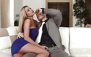 Housewife cuckold abysm mad about